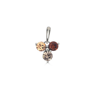 Brown Sugar Trilogy Cluster Pendant