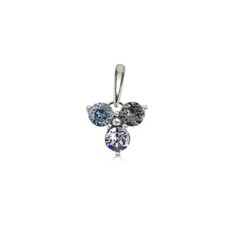 Misty Blue Trilogy Cluster Pendant