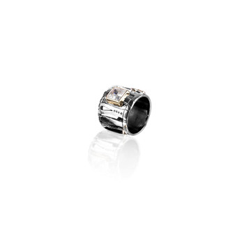 Zebra Safari Ring - Sterling Silver 925 ∙ 9ct Gold
