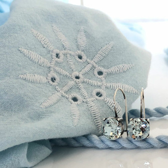 Petite Ocean Light Azure Drop Earrings