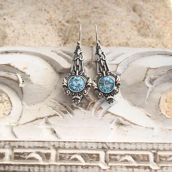 Aquamarine Ocean Drop Earrings