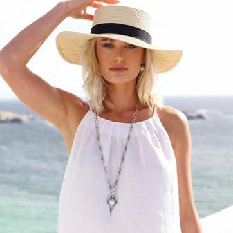 Del Sol Pearl Pendant - EN1860 - £35 Nautical Link Necklace - N2104 80cm - £55