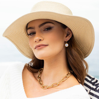 Sea Goddess Gold Oval Link Necklace