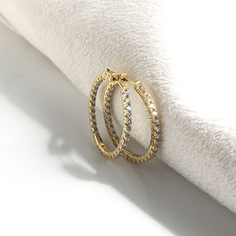 Summer Sparkles Gold Hoop Earrings