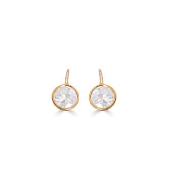 Bold Sparkling Treasures Gold Vermeil Cubic Zirconia Drop Earrings