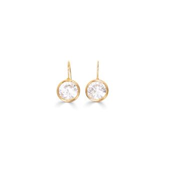 Sparkling Treasures Gold Vermeil Drop Earrings