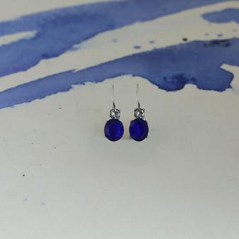 Royal Sapphire Crystal Drop Earring