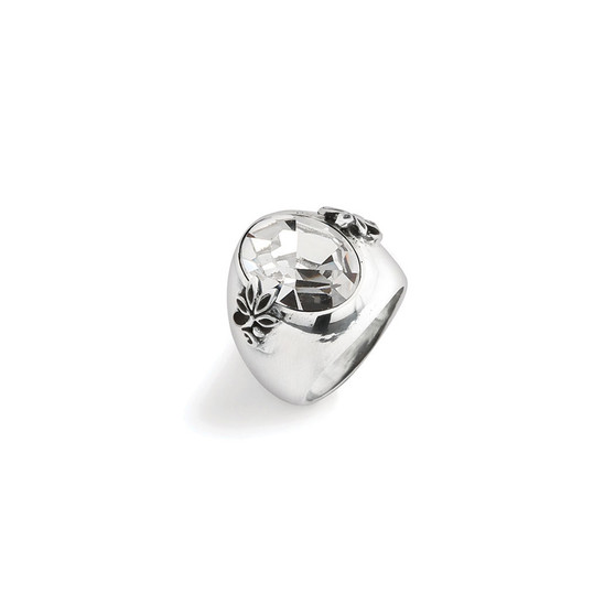 Crystal Lily Rose Ring