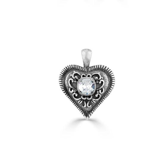 Essentially Crystal Heart Pendant