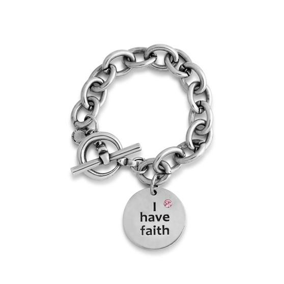"""I have faith"" Rose Bracelet (B1542)"
