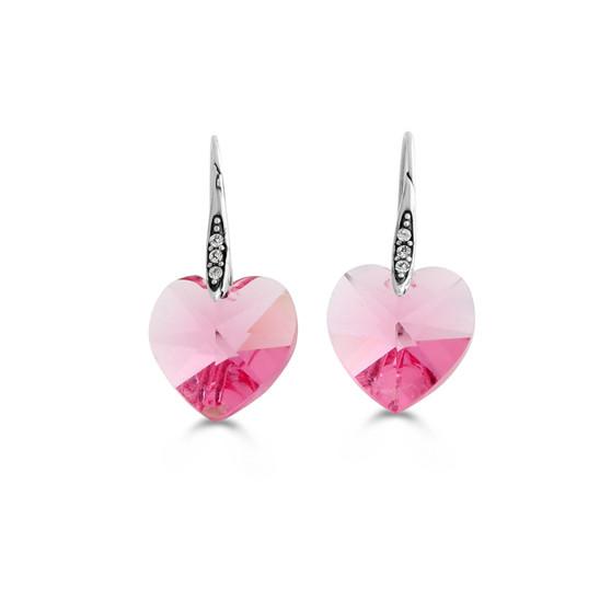 Pink Rocks Heart Drop Earring (E4503)