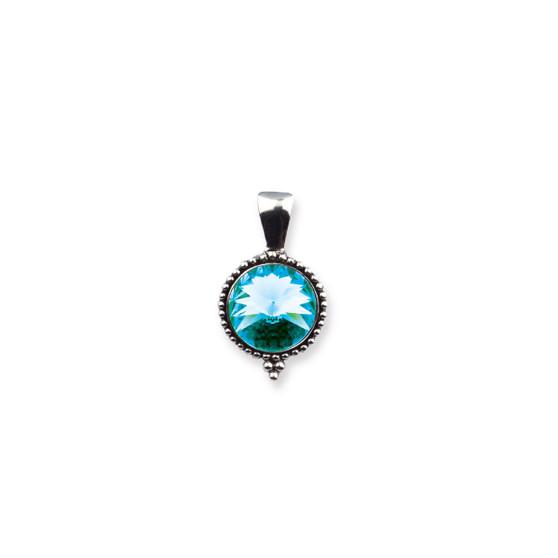 Turquoise Sparkle Pendant (EN1754)