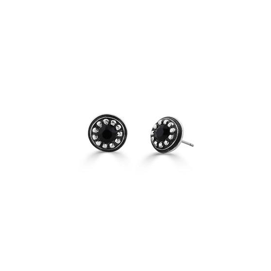 Navaho Jet Black Stud Earrings (E4559)