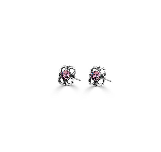 Mary Jane Antique Pink Stud Earrings (E4622)