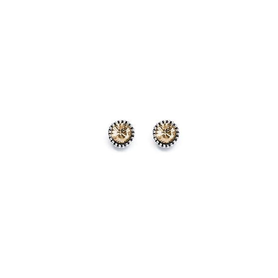 Golden Shadow Stud Earrings (E409)
