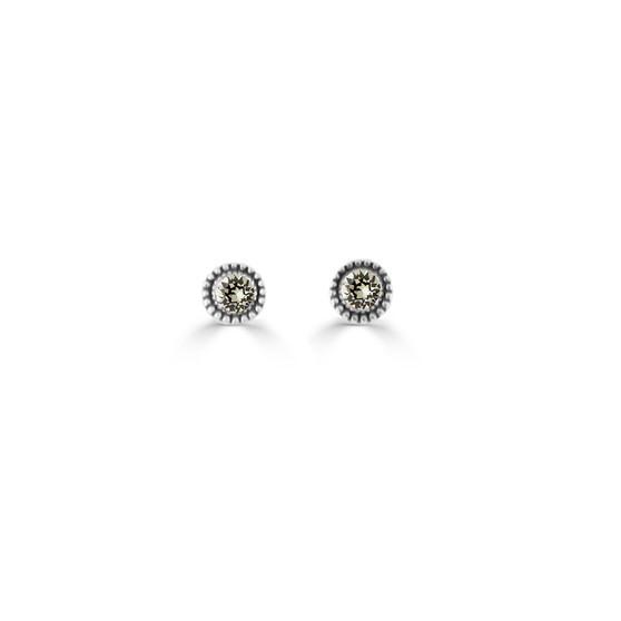 Black Diamond Expression Stud Earrings ( E4713 )