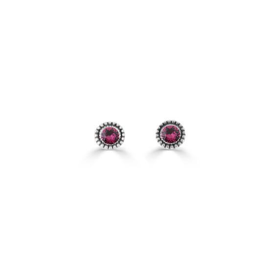 Amethyst Expression Stud Earrings ( E4714 )
