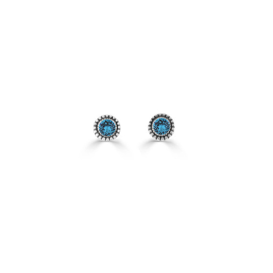 Blue Zircon Expression Stud Earrings ( E4717 ) -£15
