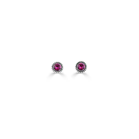Fuchsia Expression Stud Earrings ( E4722 ) -£15