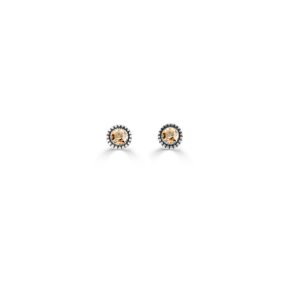 Golden Shadow Expression Stud Earrings ( E4723 )