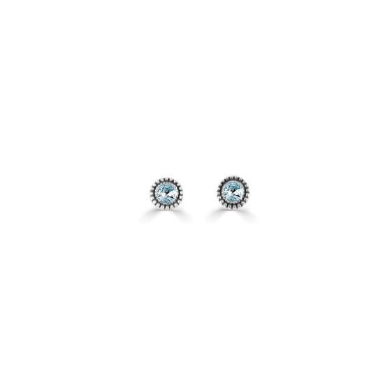 Light Azure Expression Stud Earrings ( E4724 ) -£15