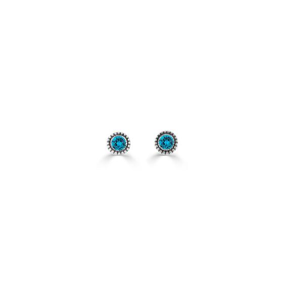 Indicolite Expression Stud Earrings ( E4725 )
