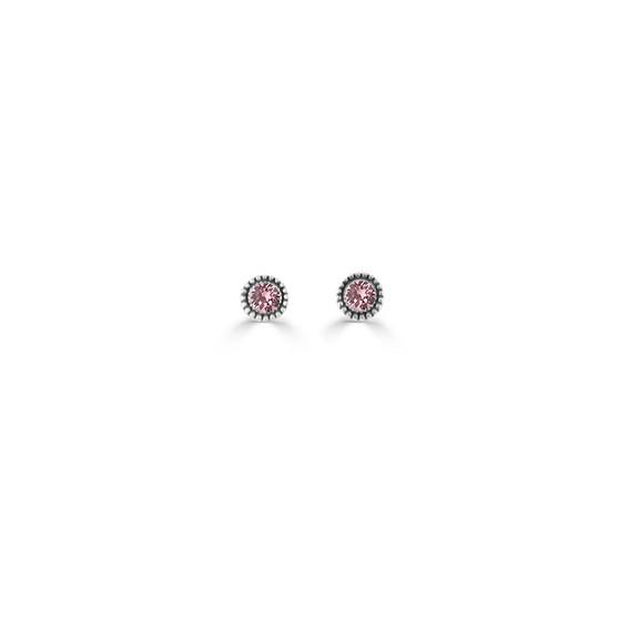 Light Amethyst Expression Stud Earrings (E4727)
