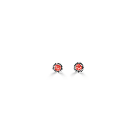 Padparadscha Expression Stud Earrings ( E4730 )