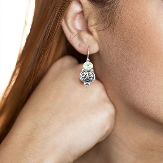 Mint Green Amour Drop Earring  ( E4735 )