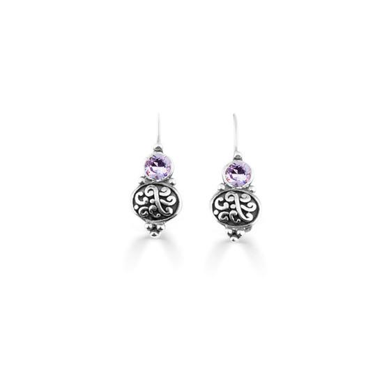 Violet Amour Drop Earring  (E4736)
