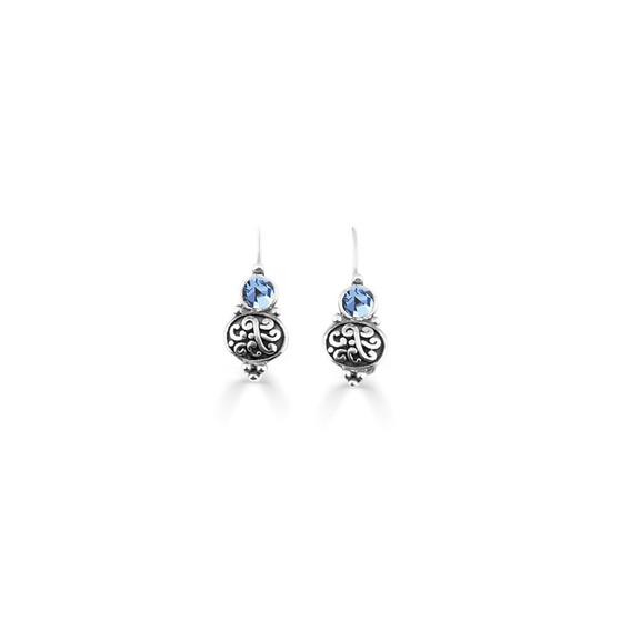 Light Sapphire Amour Drop Earring  (E4747)