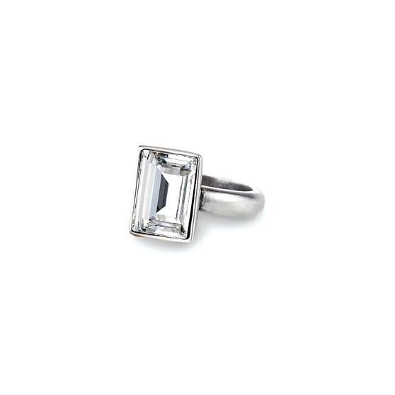 Temptation Rectangular Crystal Ring