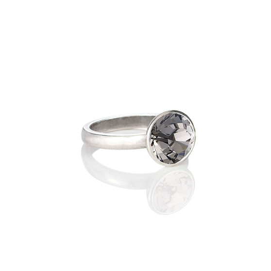 Glam Rock Black Diamond Ring ( RR136 K/N/P/R )