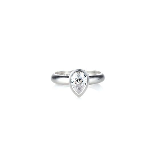 Petite Crystal Teardrop Ring