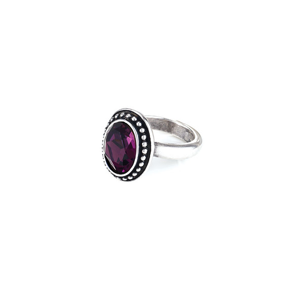 Navaho Oval Amethyst  Ring