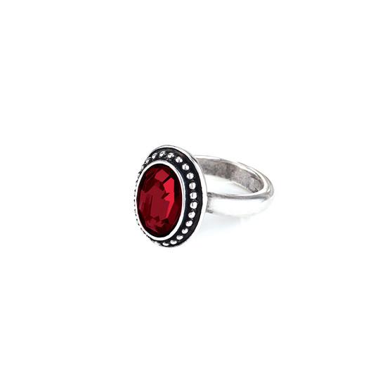 Navaho Oval Garnet  Ring