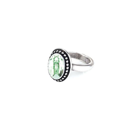 Navaho Oval Chrysolite Ring ( RR326 K/N/P/R )