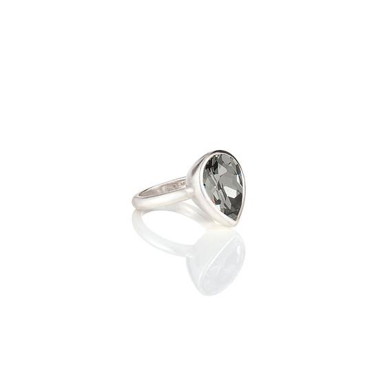 Black DiamondTeardrop Ring (RR337 K/N/P/R)