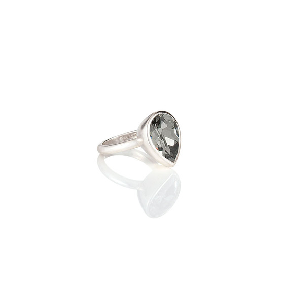 Black DiamondTeardrop Ring ( RR337 K/N/P/R )