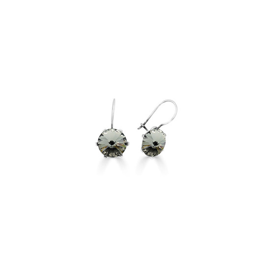 Spirit Of A Woman Black Diamond Drop Earrings ( E4751 )