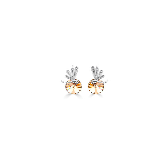 Light Colorado Topaz Dragonfly Drop Earrings - Burnished Silver / Swarovski Crystal / Lever Back Clasp Fastening / Dragonfly Jewellery / Gifts For Her / Gift Ideas
