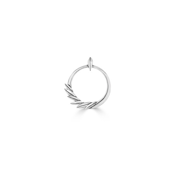 Floral Flame Pendant - Burnished Silver / Leaf Pendant / Nature Jewellery / Minimalist / Gift Ideas