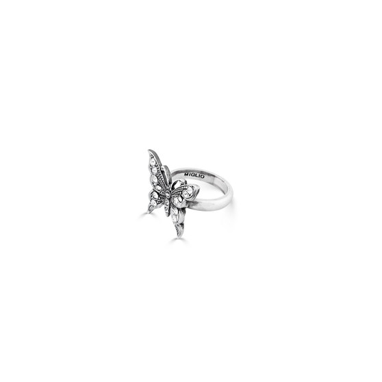 Take Flight Butterfly Ring - Sterling Silver 925 / Swarovski Crystal / Handmade / Gifts For Her / Butterfly Jewellery / Gift Ideas