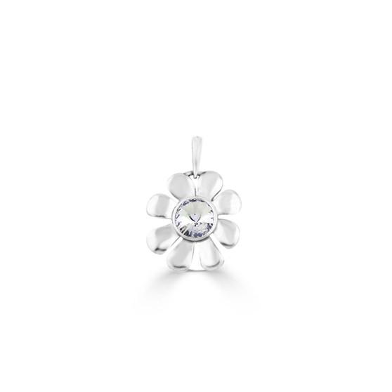 Daisy Pendant - Burnished Silver / Flower Pendant / Daisy Jewellery / Swarovski Crystal / Floral Jewellery / Gift Ideas