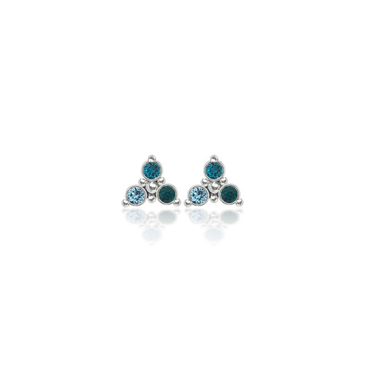 Turquoise Trilogy Cluster Stud Earrings