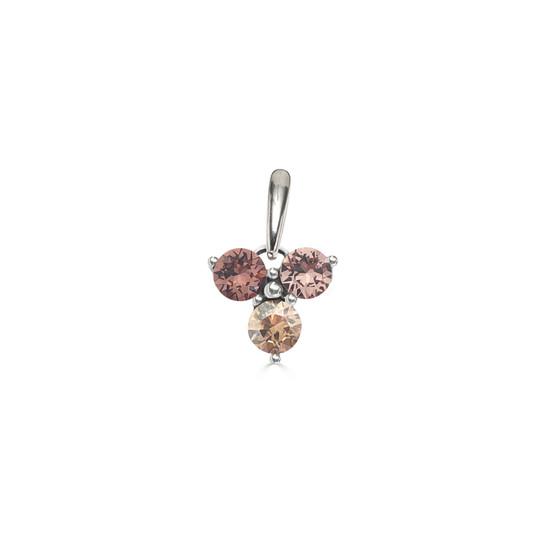 Tawny Rose Trilogy Cluster Pendant