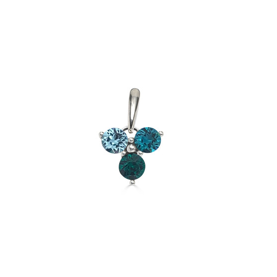 Turquoise Trilogy Cluster Pendant