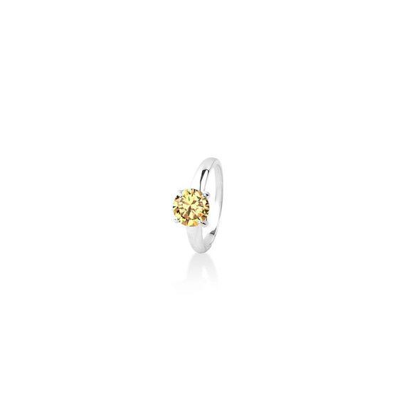 Topaz (November) Bold Solitaire Ring - Sterling Silver 925
