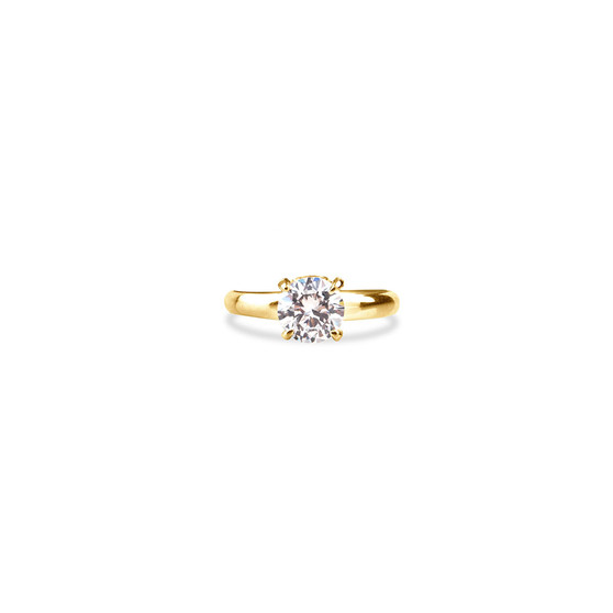 18ct Gold Vermeil Bold Solitaire Ring