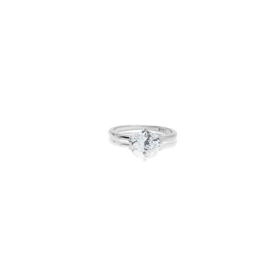 Sterling Silver Petite Oval Ring - Sterling Silver 925